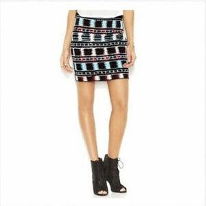 Rachel Roy bodycon stretch knit mini skirt XL